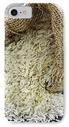 Long Grain Rice In Burlap Sack IPhone Case by Elena Elisseeva
