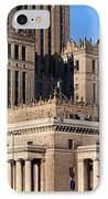 Palace Of Culture And Science In Warsaw IPhone Case by Artur Bogacki