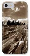 Pemaquid Rocks IPhone Case by Skip Willits