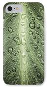 Raindrops On Green Leaf IPhone Case by Elena Elisseeva