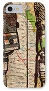 2 Rca Microphones IPhone Case by William Cauthern