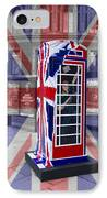 Royal Telephone Box IPhone Case by David French