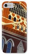 Ryman Auditorium IPhone Case by Brian Jannsen
