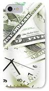 Time Is Money Concept IPhone Case by Les Cunliffe