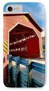 Wooden Covered Bridge  IPhone Case by Ulrich Schade
