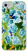 Miyoko Flowers IPhone Case by Baljit Chadha