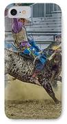 Bareback Bronc Riding IPhone Case