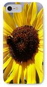 Bee On Flower IPhone Case by Les Cunliffe
