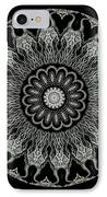 Kaleidoscope Ernst Haeckl Sea Life Series Black And White Set On IPhone Case