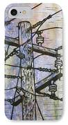 Power Lines IPhone Case by William Cauthern