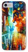Street Of Hope IPhone Case by Leonid Afremov