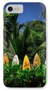 Surf Board Fence Maui Hawaii IPhone Case by Edward Fielding