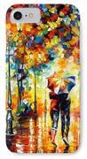 Under One Umbrella IPhone Case by Leonid Afremov