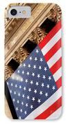 Wall Street Flag IPhone Case by Brian Jannsen