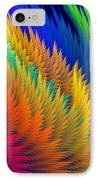 Computer Generated Abstract Fractal Flame IPhone Case
