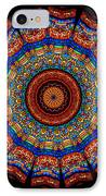 Kaleidoscope Stained Glass Window Series IPhone Case by Amy Cicconi