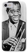 Louis Armstrong (1900-1971) IPhone Case by Granger