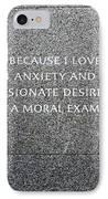 Martin Luther King Jr Memorial IPhone Case by Allen Beatty