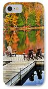 Wooden Dock On Autumn Lake IPhone Case by Elena Elisseeva