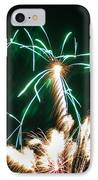 4th Of July 2014 Fireworks Bridgeport Hill Clarksburg Wv 2 IPhone Case by Howard Tenke