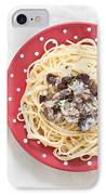 Sardines And Spaghetti IPhone Case by Tom Gowanlock