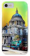St Pauls Cathedral London Art IPhone Case by David Pyatt
