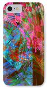 Abstract Checkered Pattern Fractal Flame IPhone Case by Keith Webber Jr