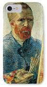 Self Portrait IPhone Case by Vincent van Gogh