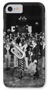 Silent Film Still: Music IPhone Case by Granger