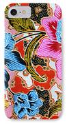 Colorful Batik Cloth Fabric Background  IPhone Case by Prakasit Khuansuwan