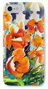 A Choir Of Poppies IPhone Case by Kathy Braud