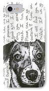 A Conversation With A Jack Russell Terrier IPhone Case