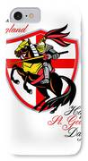 A Day For England Happy St George Day Retro Poster IPhone Case