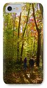 A Fall Walk With My Best Friend IPhone Case