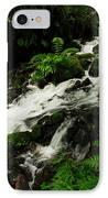 A Fern On An Isalnd  On Wahkeena Creek IPhone Case