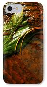 A Leaf Washed Over IPhone Case by Jeff Swan