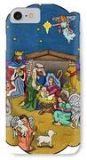 A Nativity Scene IPhone Case by Sarah Batalka