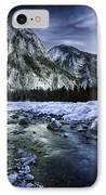 A River Flowing Through The Snowy IPhone Case