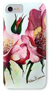 A Rose Is A Rose IPhone Case by Karin  Dawn Kelshall- Best