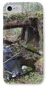 Abandoned Boston And Maine Railroad Timber Bridge - New Hampshire Usa IPhone Case by Erin Paul Donovan