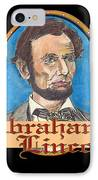 Abraham Lincoln Graphic IPhone Case by John Keaton