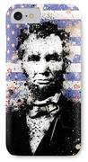 Abraham Lincoln Pop Art Splats IPhone Case by Bekim Art