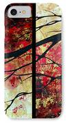 Abstract Art Original Landscape Painting Bring Me Home By Madart IPhone Case by Megan Duncanson