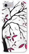 Abstract Artwork Modern Original Landscape Pink Blossom Tree Art Pink Foliage By Madart IPhone Case by Megan Duncanson