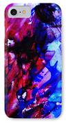 Abstract Blue And Pink Festival IPhone Case by Andrea Anderegg