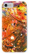 Abstract - Crayon - The Excitement IPhone Case by Mike Savad
