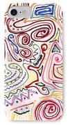 Abstract - Fabric Paint - Urban Society IPhone Case by Mike Savad
