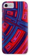 Abstract In Red And Blue IPhone Case by John Edwards