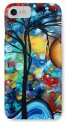 Abstract Landscap Art Original Circle Of Life Painting Sweet Serenity By Madart IPhone Case
