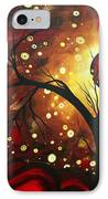 Abstract Landscape Glowing Orb By Madart IPhone Case
